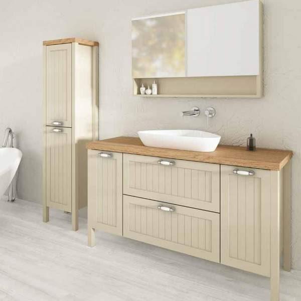 ארון אמבטיה מעוצב כפרי