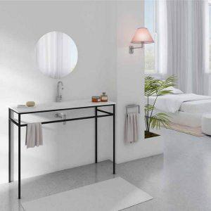 ארון אמבטיה מרנג