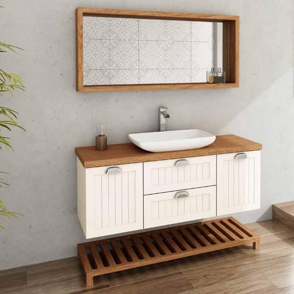 ארון אמבטיה מעוצב כפרי תלוי