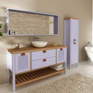 ארון אמבטיה כפרי דגם קרמל