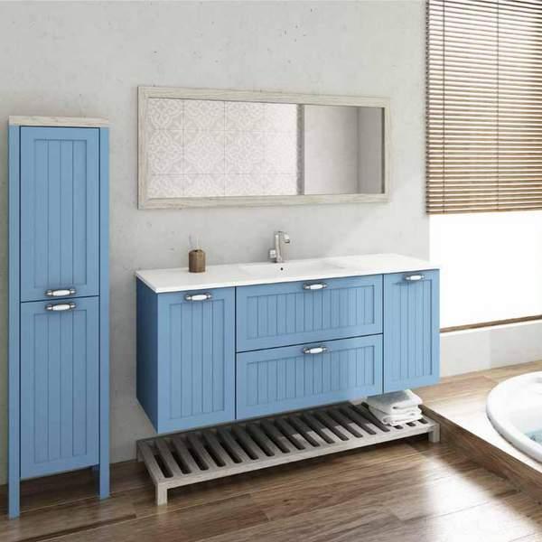 ארון אמבטיה כפרי מעוצב דגם רוקפור