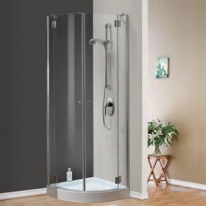 מקלחון מעוגל חמת דלתות נפתחות