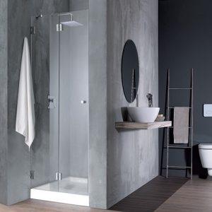 מקלחון חזית ללא פרופילים אקורדיון