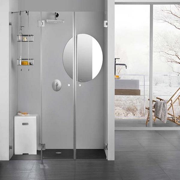 מקלחון חזית ללא פרופילים